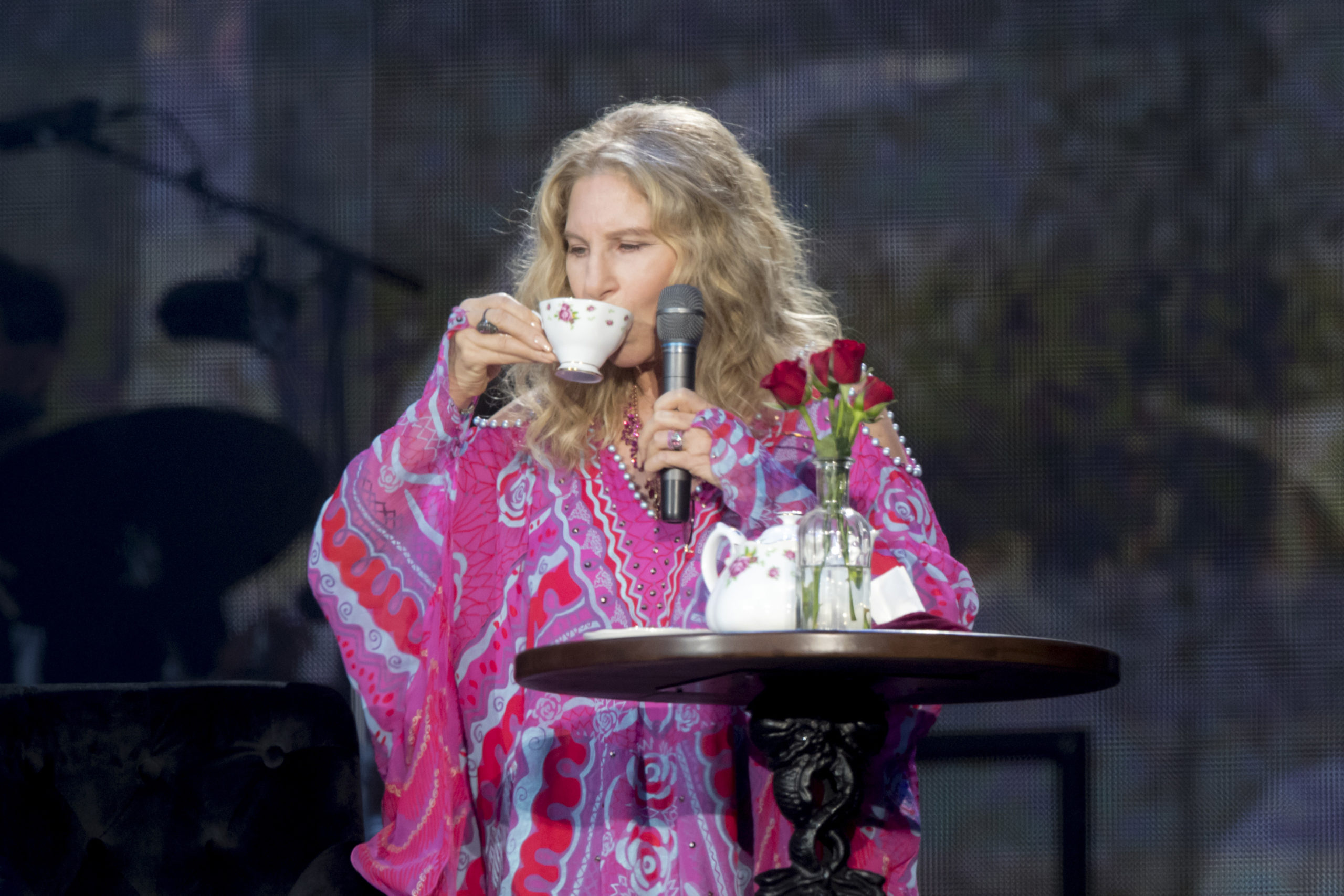 Barbra Streisand performs during Barclaycard Presents British Summer Time Hyde Park at Hyde Park