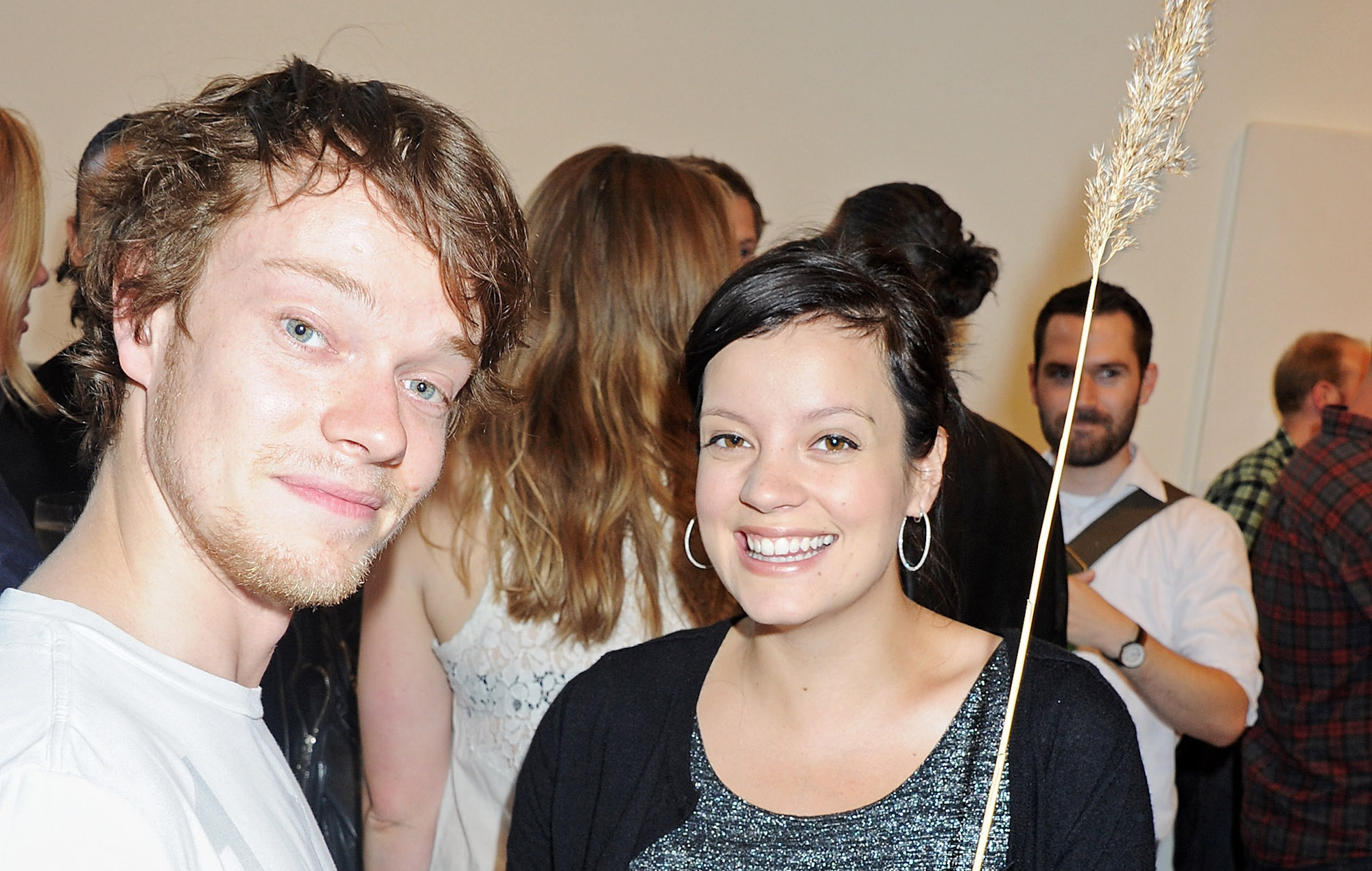 Lily Allen and Alfie Allen in 2011