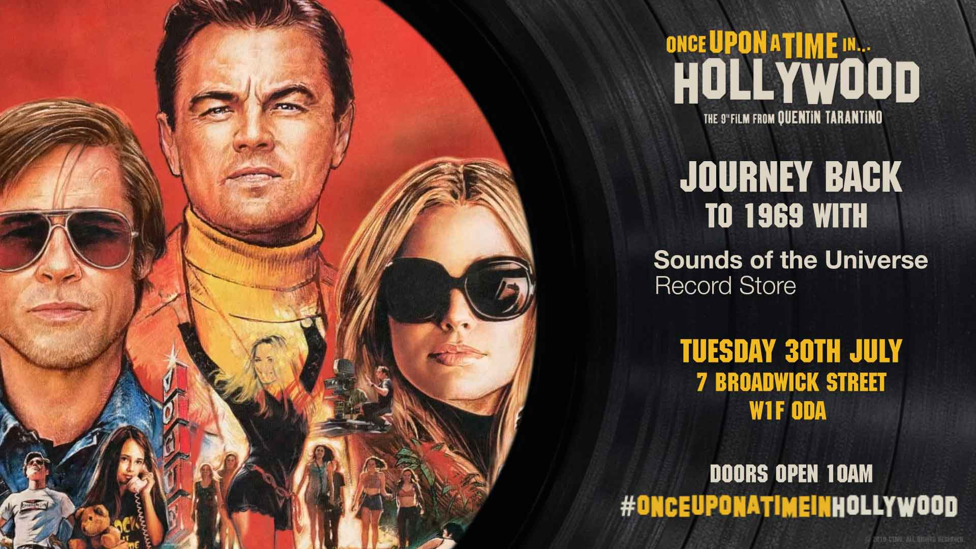 London Music Store S Exclusive For Tarantino S Once Upon A Time