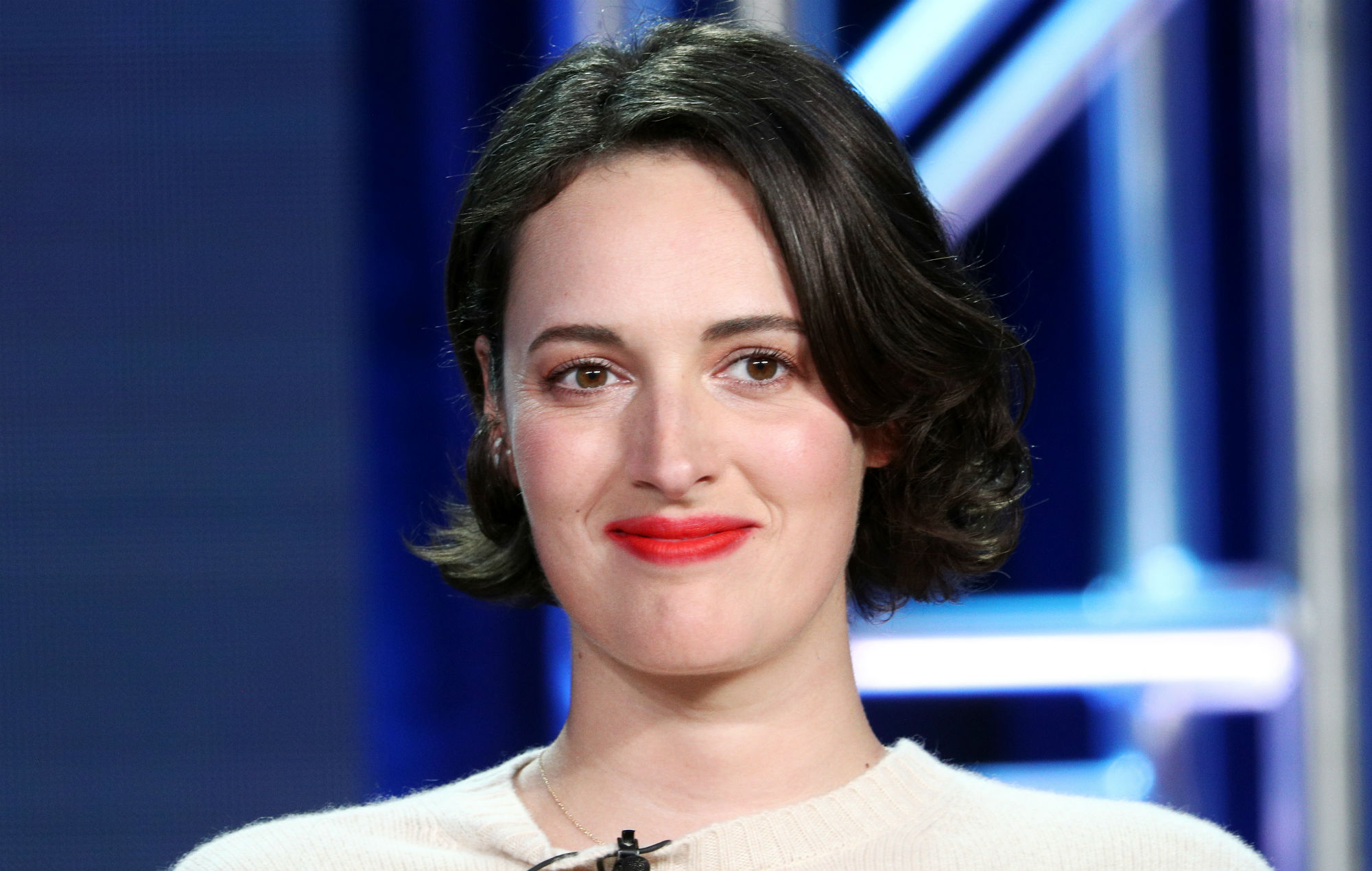 Phoebe Waller-Bridge of the television show 'Fleabag' speaks during the Amazon Prime Video Visionary Voices segment, 2019