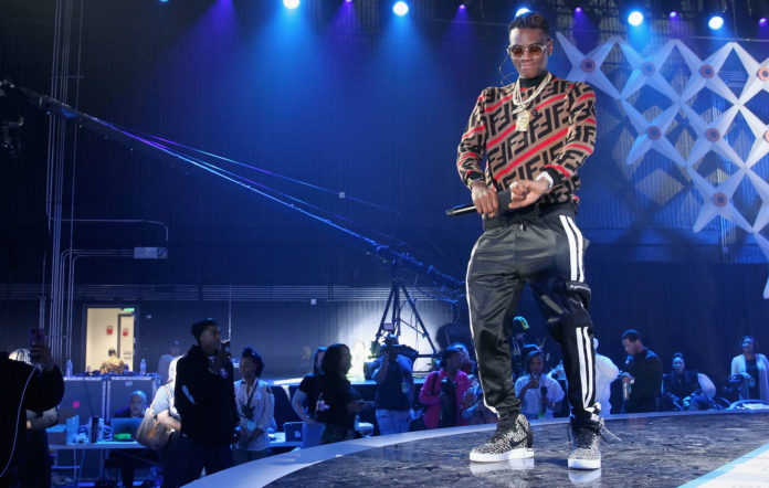Soulja Boy rehearses onstage during the 2019 BET Social Awards at The Tyler Perry Studios on March 3, 2019 in Atlanta, Georgia