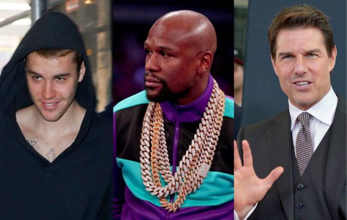 Justin Bieber / Floyd Mayweather / Tom Cruise