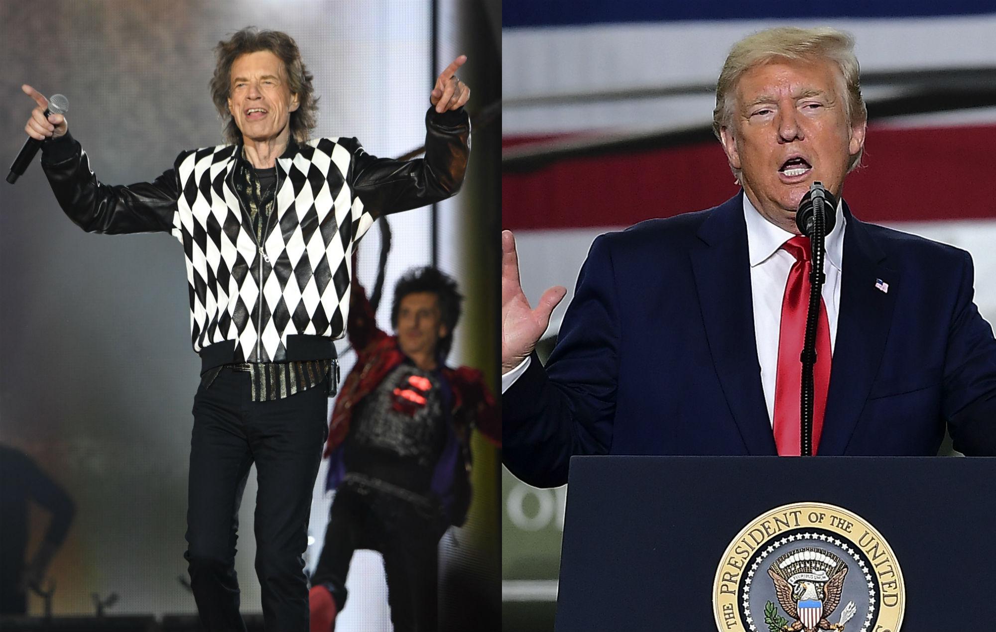 Mick Jagger / Donald Trump. Credit: Getty