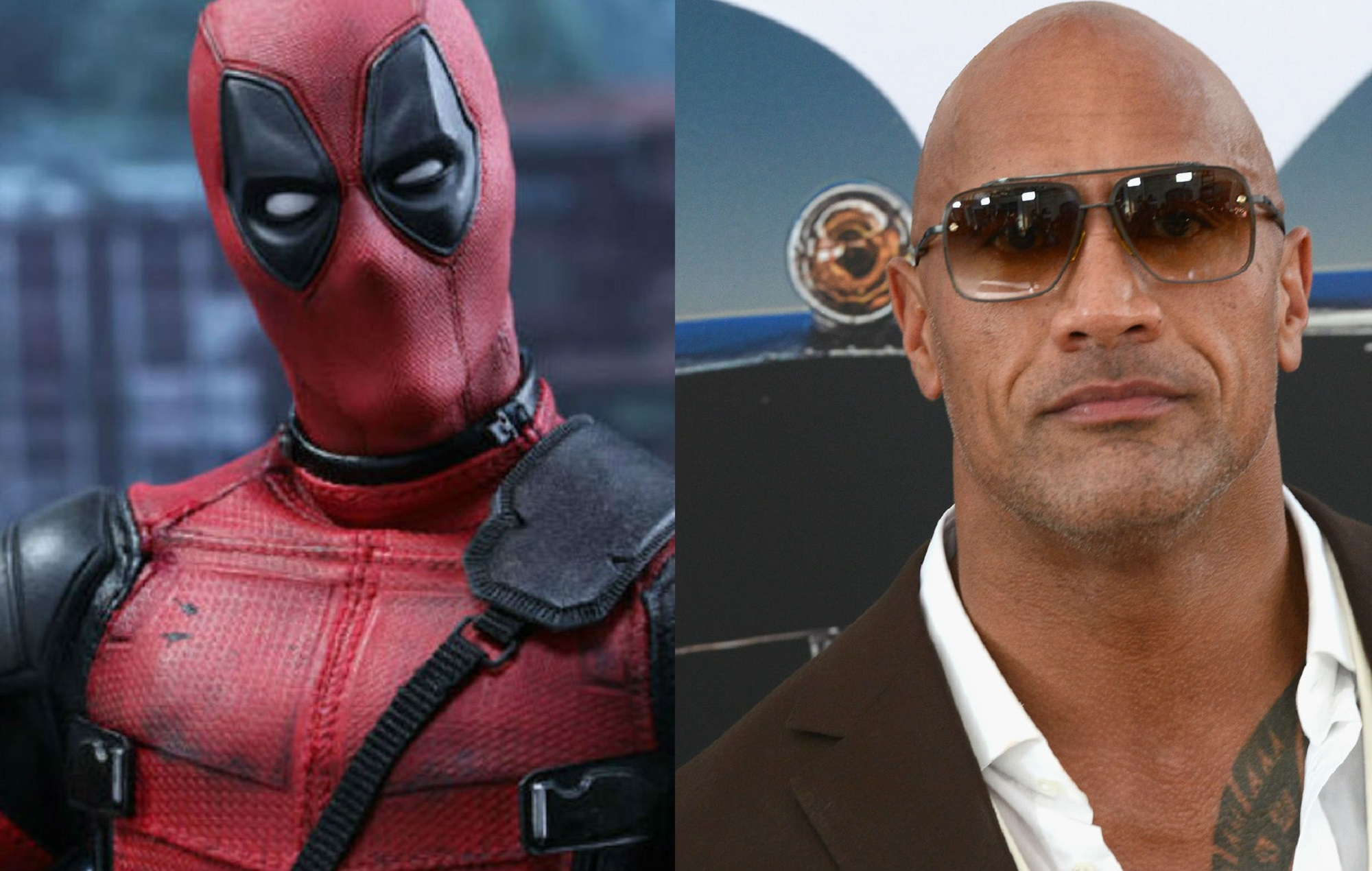 Deadpool and Dwayne Johnson