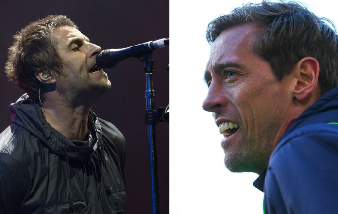Liam Gallagher and Peter Crouch