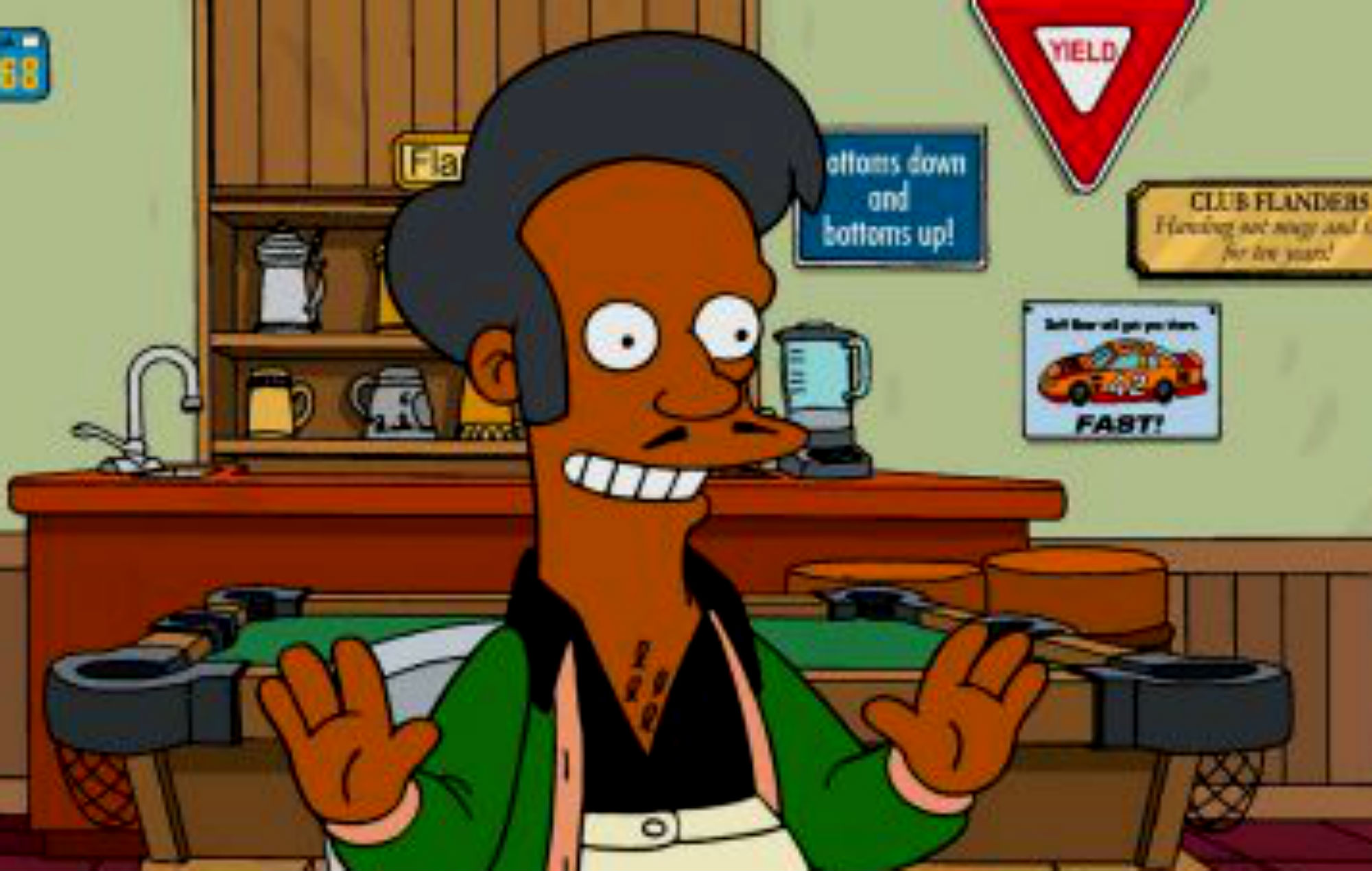 Apu as depicted in The Simpsons