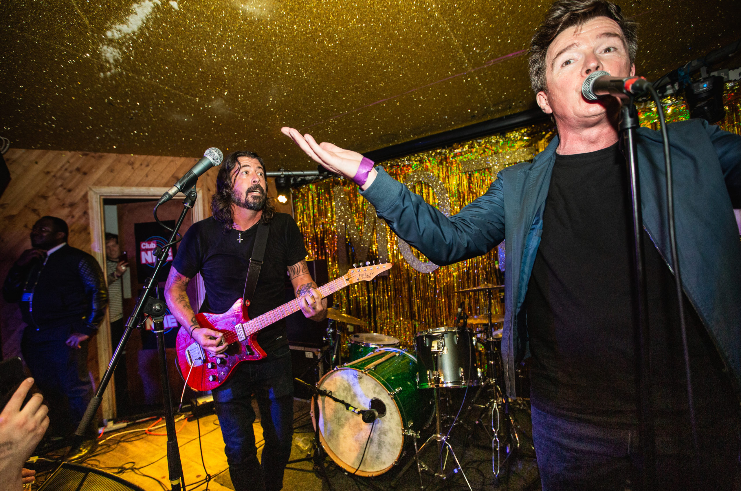 Rick Astley and Dave Grohl at Club NME