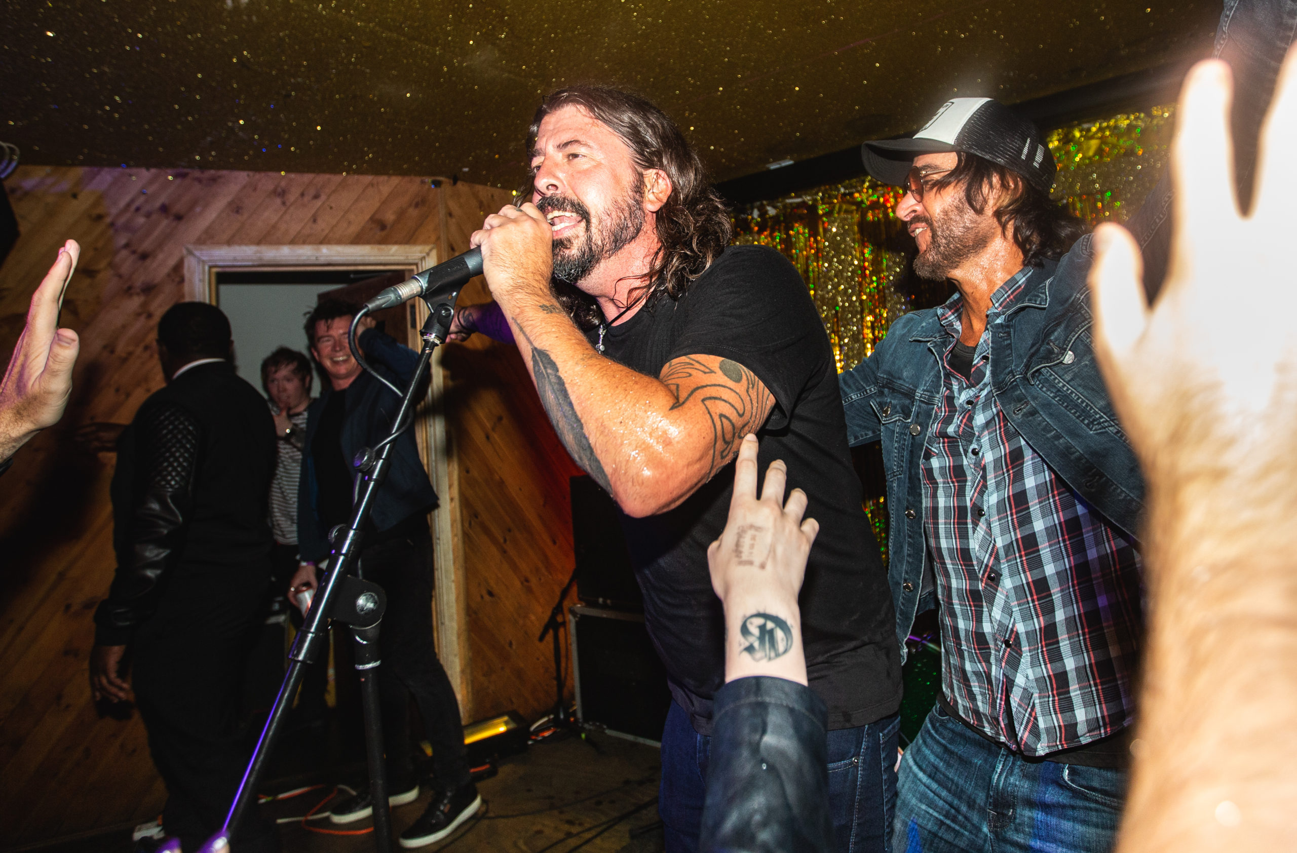 Dave Grohl and Rami at Club NME