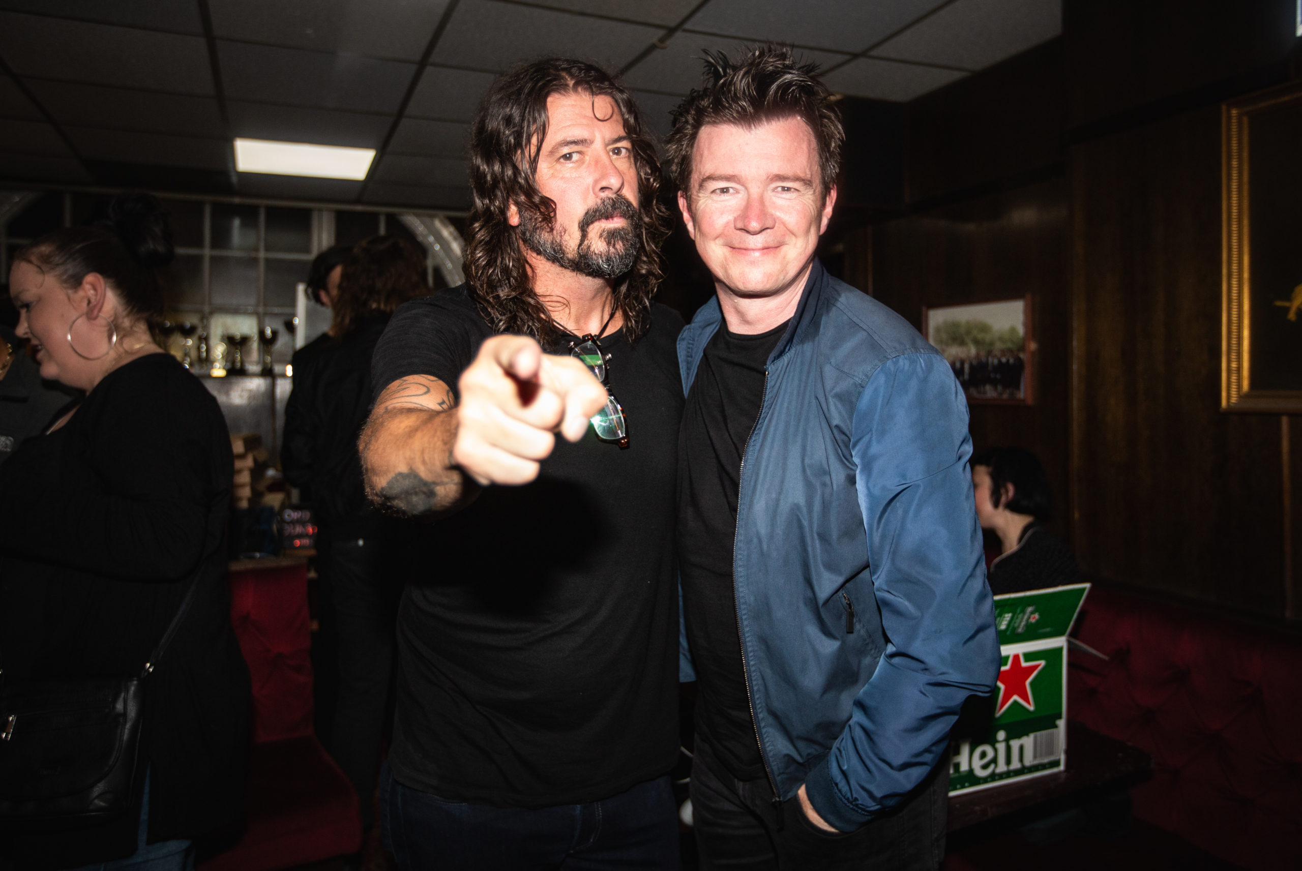 Dave Grohl and Rick Astley at Club NME