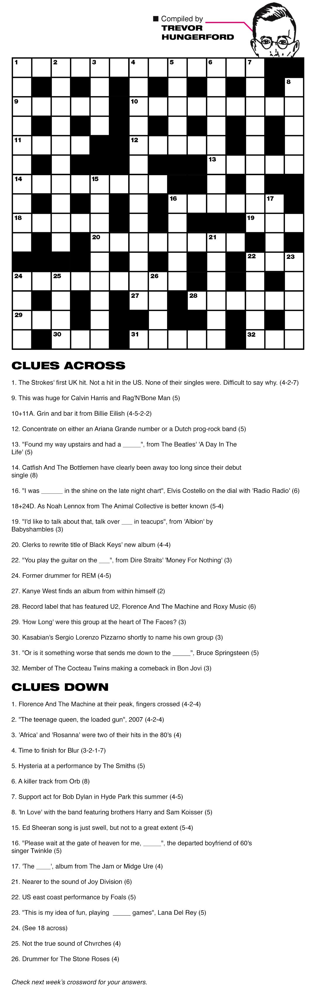 Crossword week 17