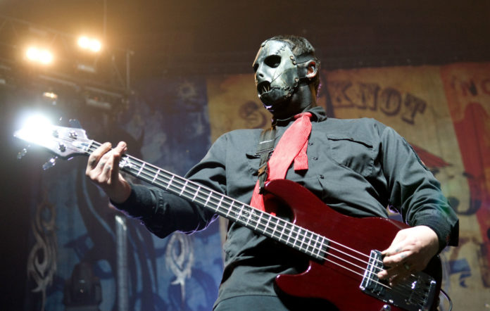 Paul Gray of Slipknot performs on stage at the Allstate Arena on January 30, 2009 in Rosemont, Illinois