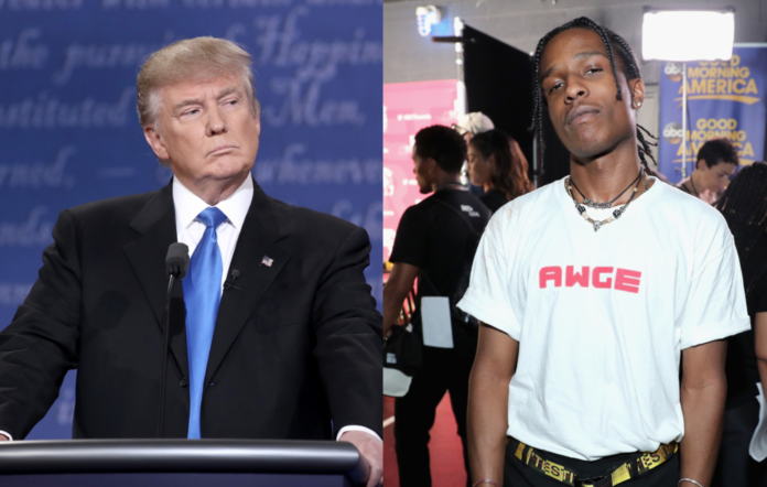 Donald Trump and A$AP Rocky