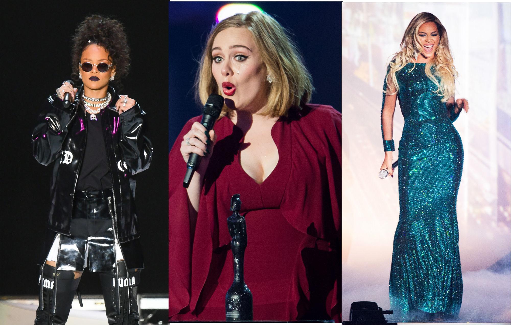 Rihanna Adele Beyonce comeback