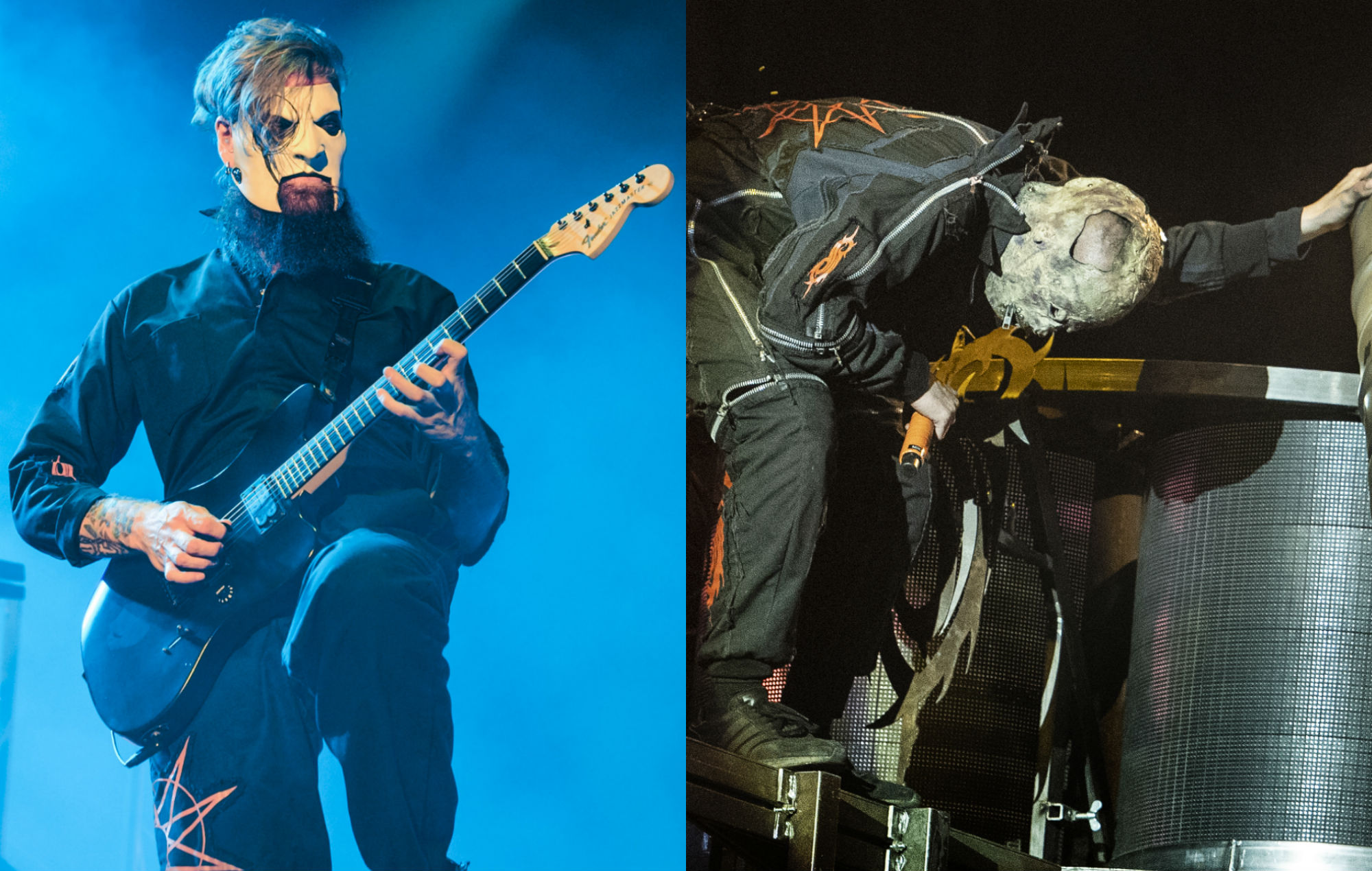 Slipknot's Jim Root and 'Tortilla Man' perform live in 2019