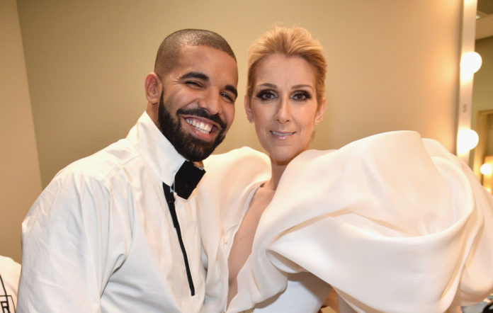 Celine Dion and Drake at the 2017 Billboard Music Awards