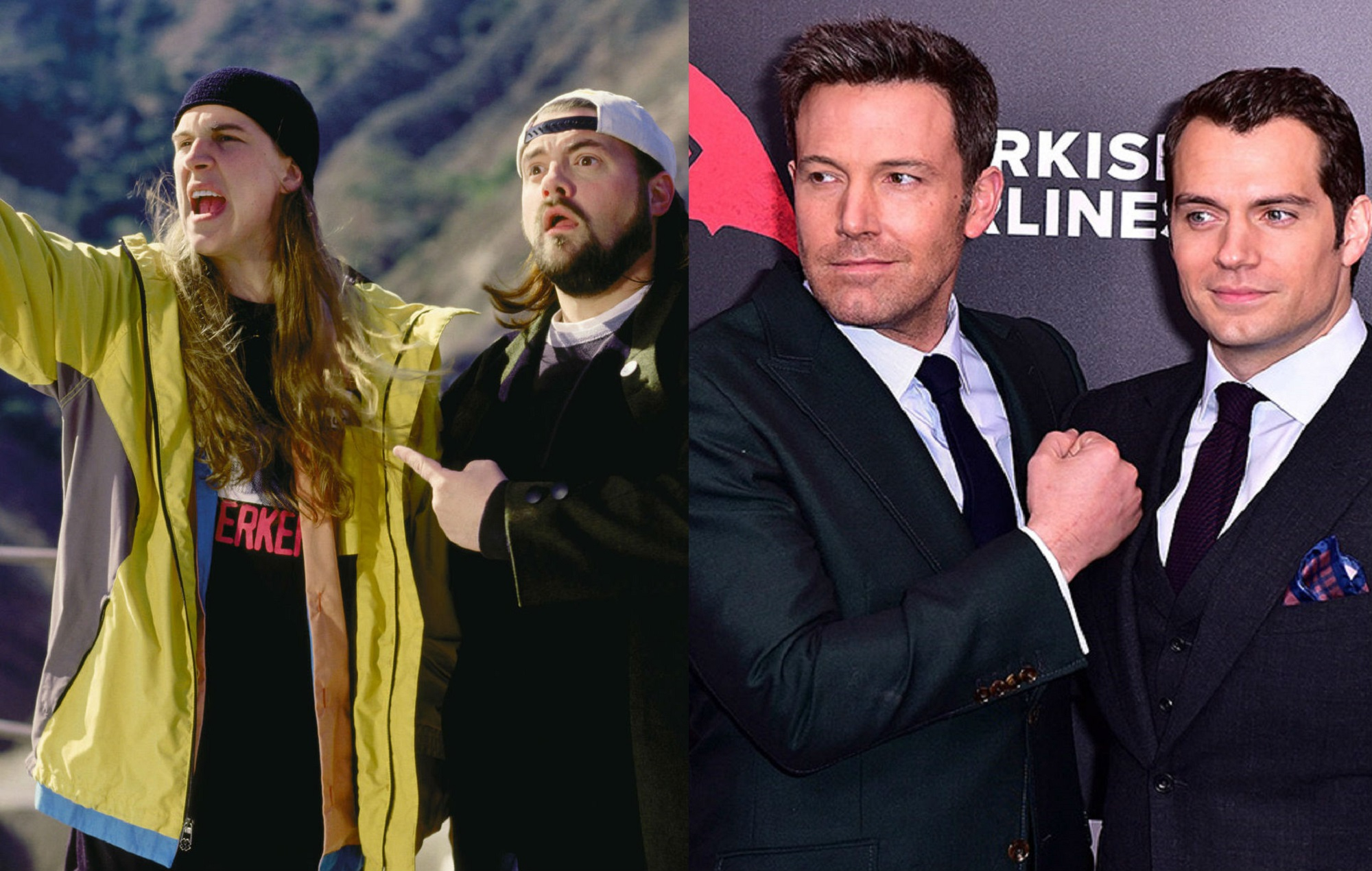 Jay and Silent Bob and Ben Affleck and Henry Cavill
