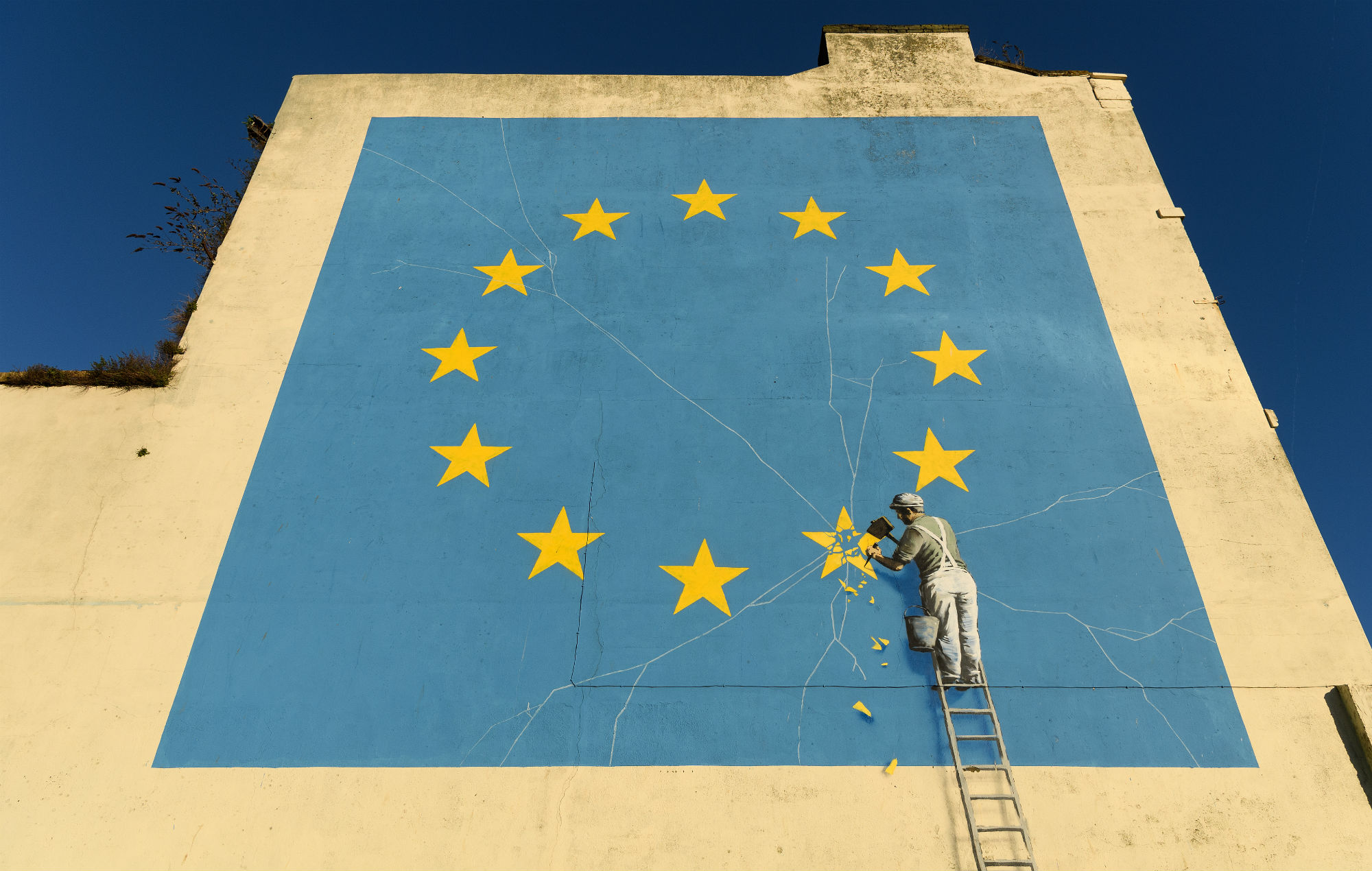 Banksy responds after Brexit artwork is painted over in Dover | NME