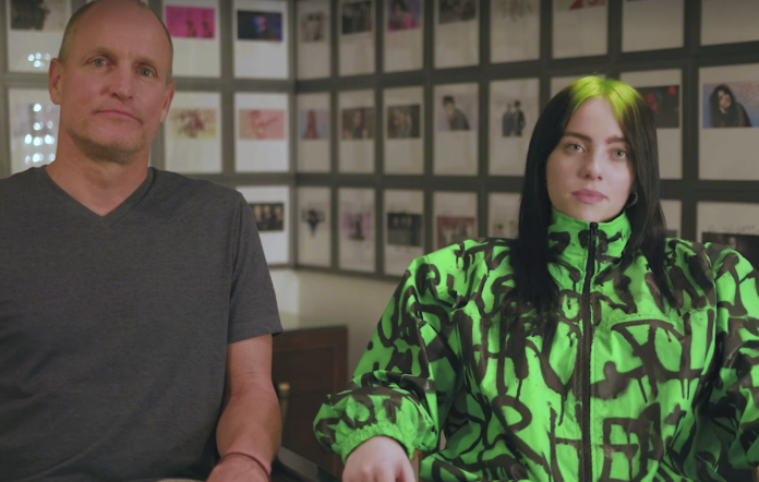 Billie Eilish and Woody Harrelson post video urging viewers to take action on climate change