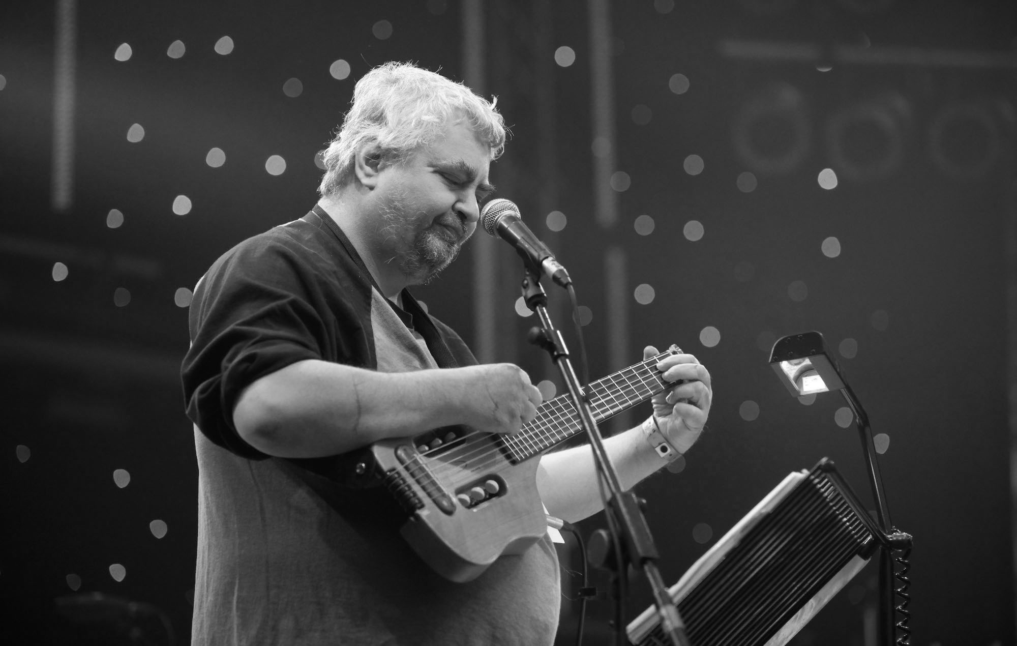 American singer /songwriter Daniel Johnston performing live as part of the ATP Festival, curated by Matt Groening at Minehead on May 9 2010. - Job: 86053 Ref: EWT - (Photo by Edd Westmacott/Photoshot/Getty Images)