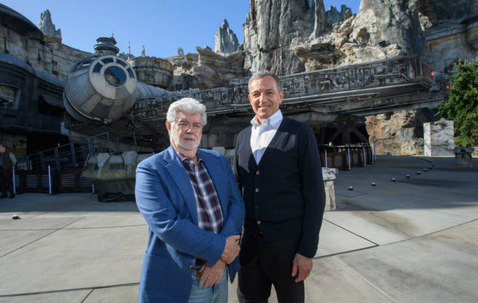 George Lucas and Disney CEO Bob Iger