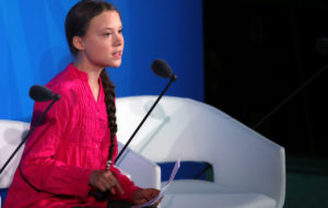 Greta Thunberg; Fatboy Slim; UN