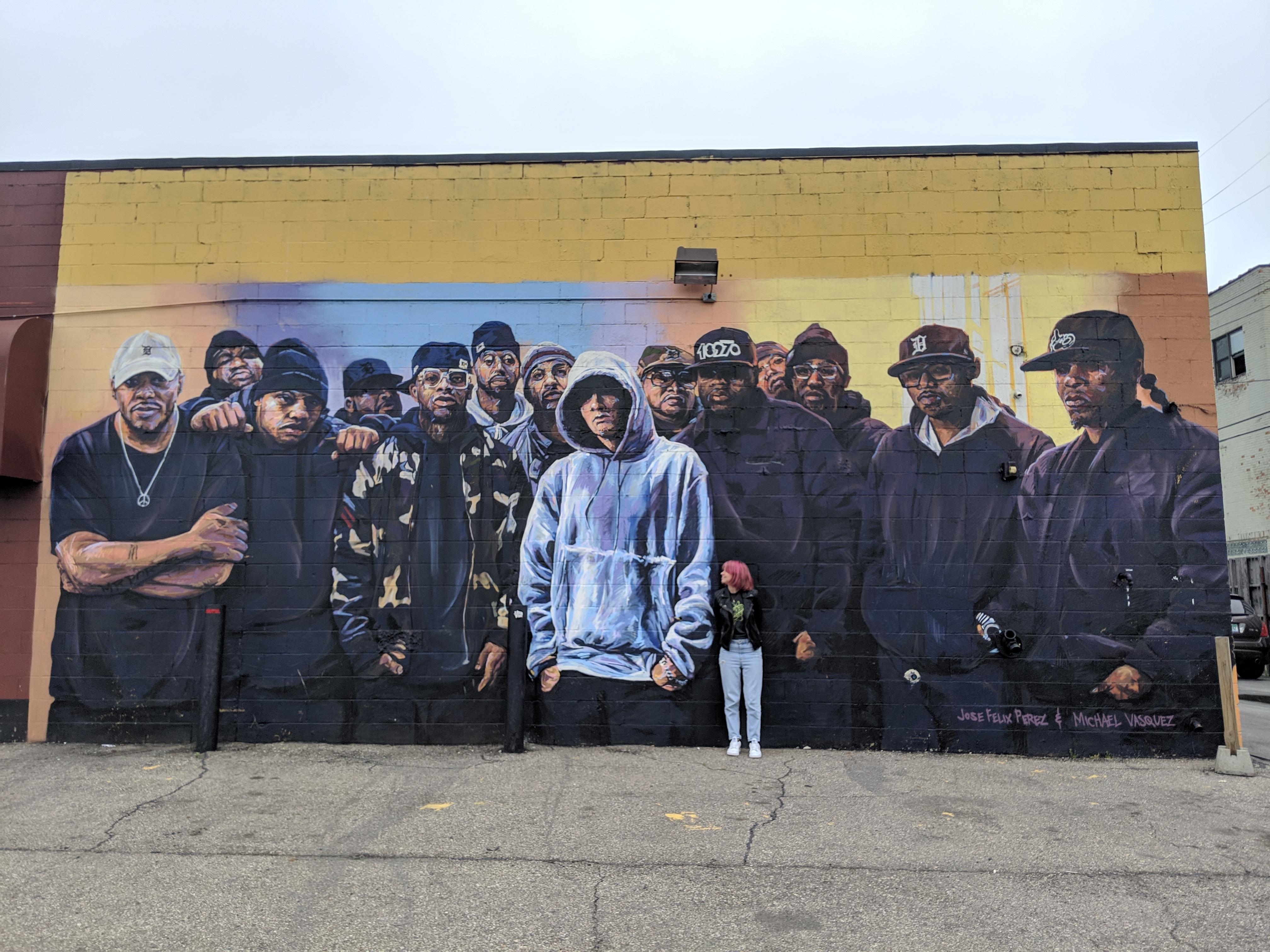 Eminem mural Eastern Market Detroit