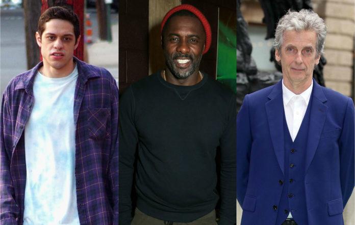 Pete Davidson, Idris Elba and Peter Capaldi