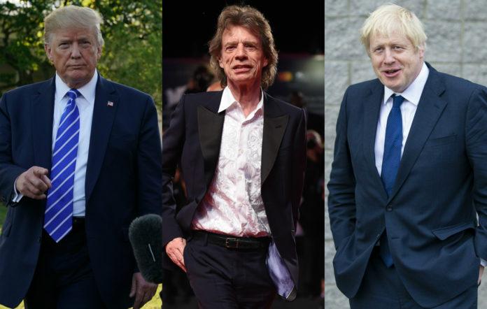 Donald Trump, Mick Jagger, Boris Johnson