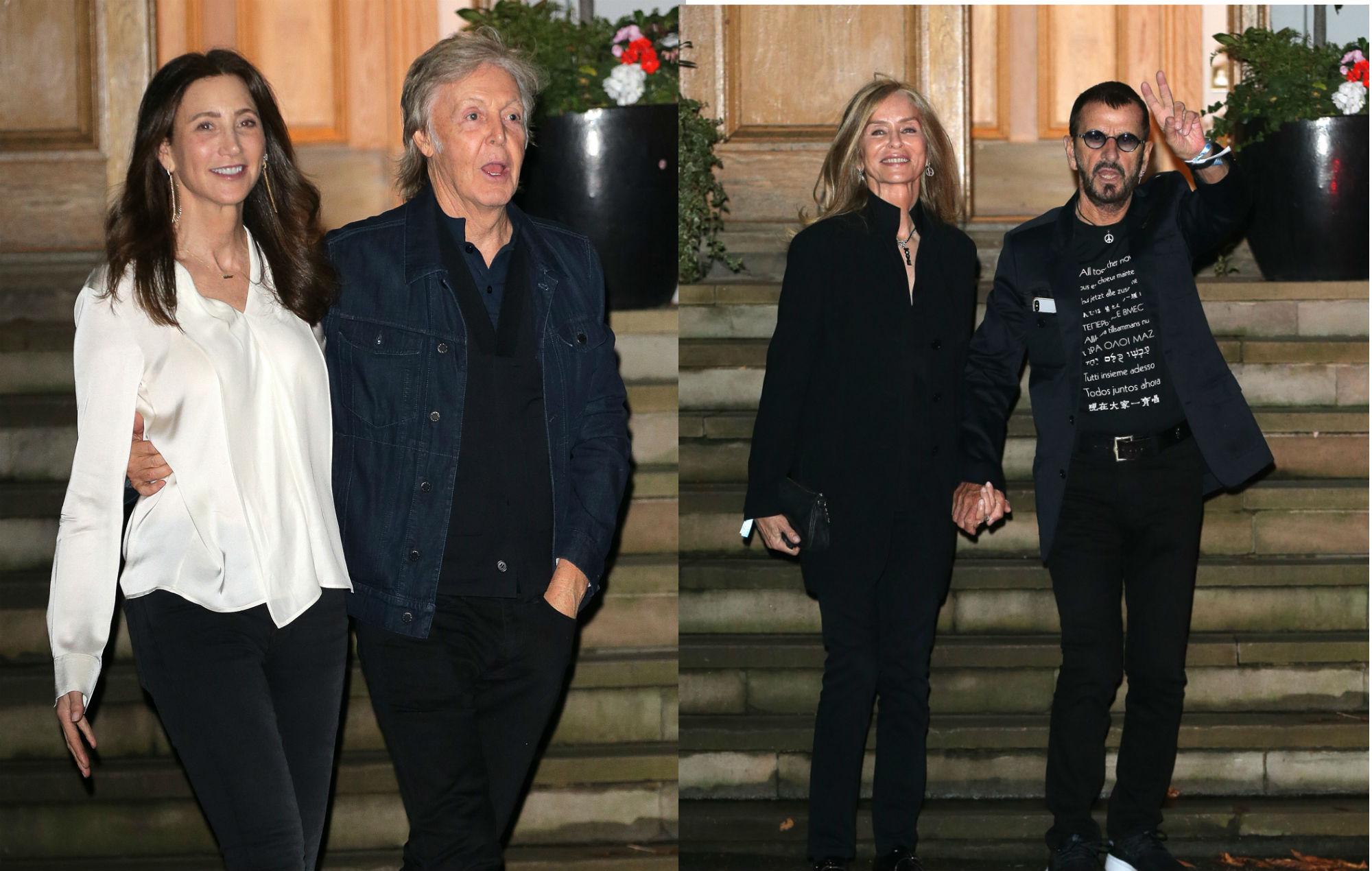 Paul Mccartney And Ringo Starr Reunite At Abbey Road