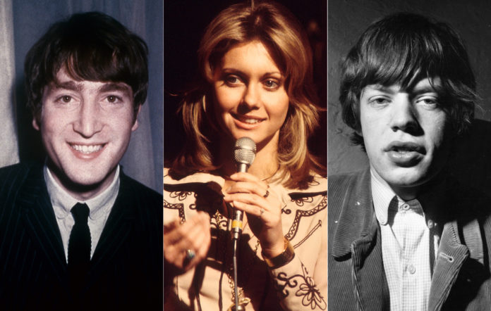 John Lennon Olivia Newton-John Mick Jagger