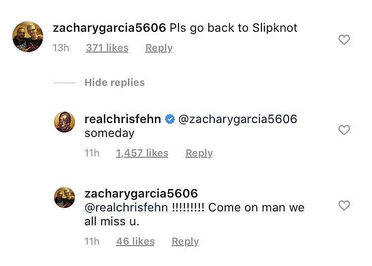 "Chris Fehn says he wants to return to Slipknot ""someday"""