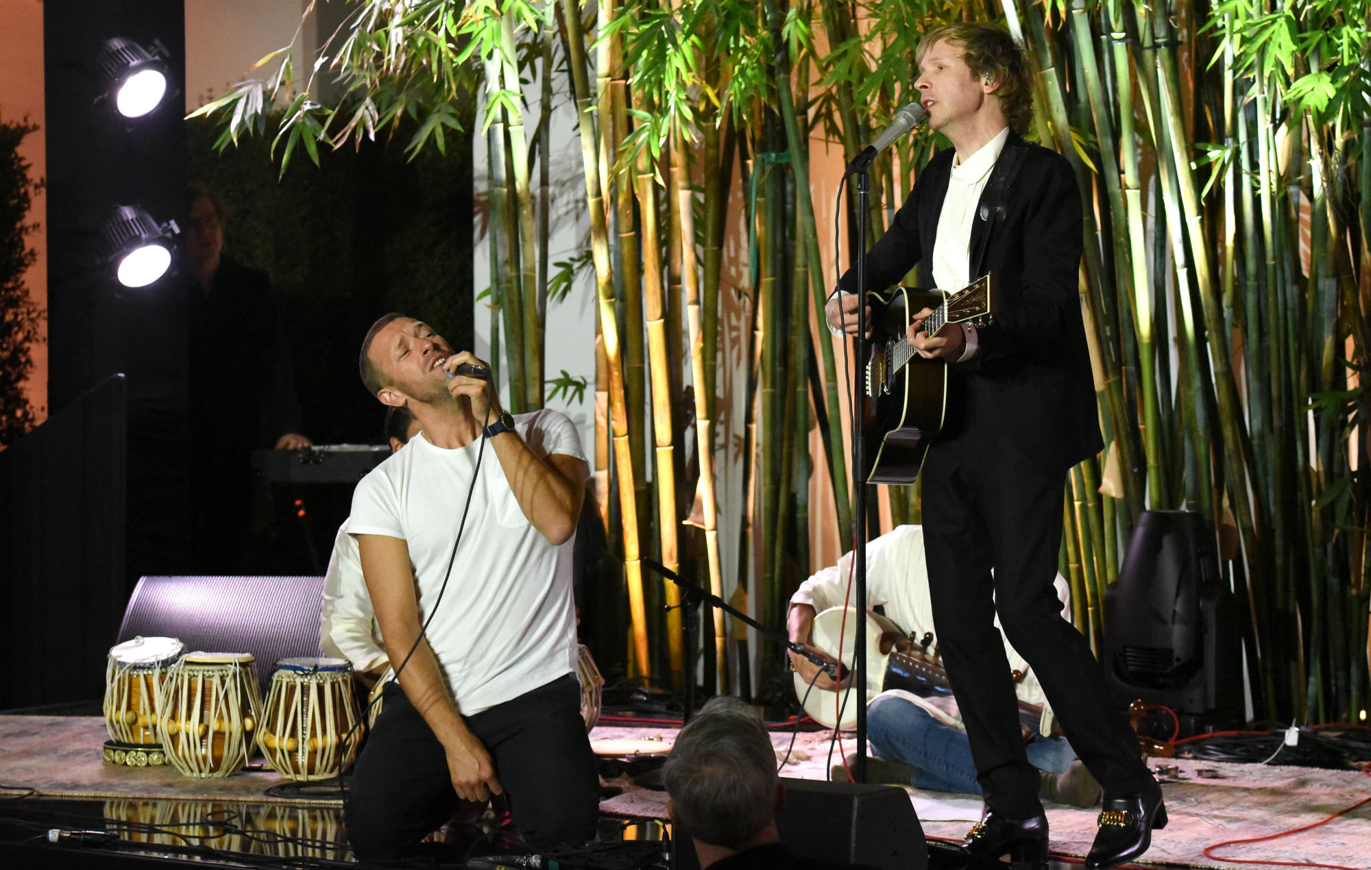 Watch Coldplay frontman Chris Martin join Beck for 'Loser' performance