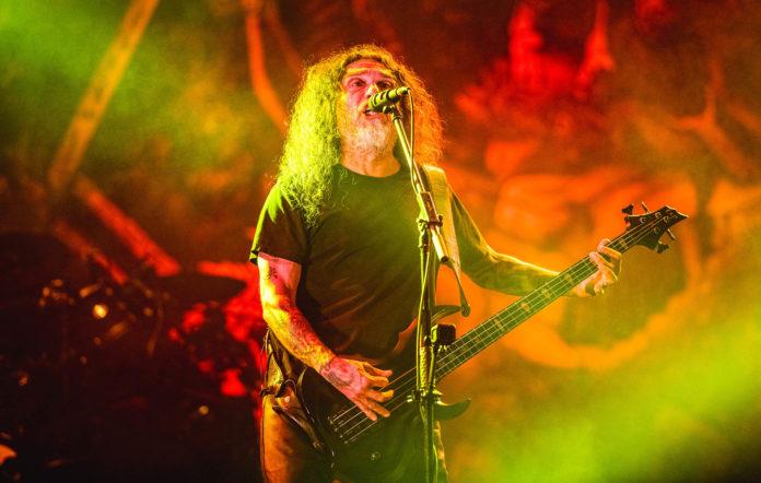 Slayer live on stage