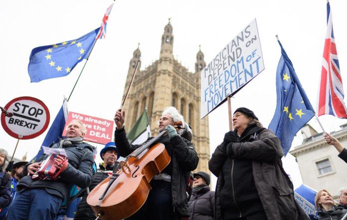 Brexit protestors