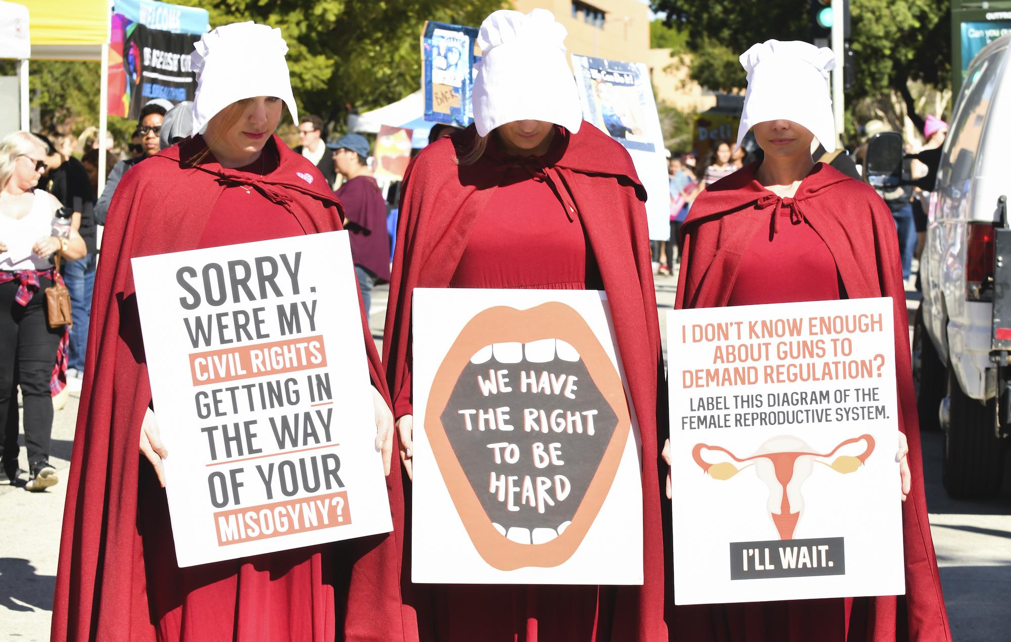 Handmaids Women's March