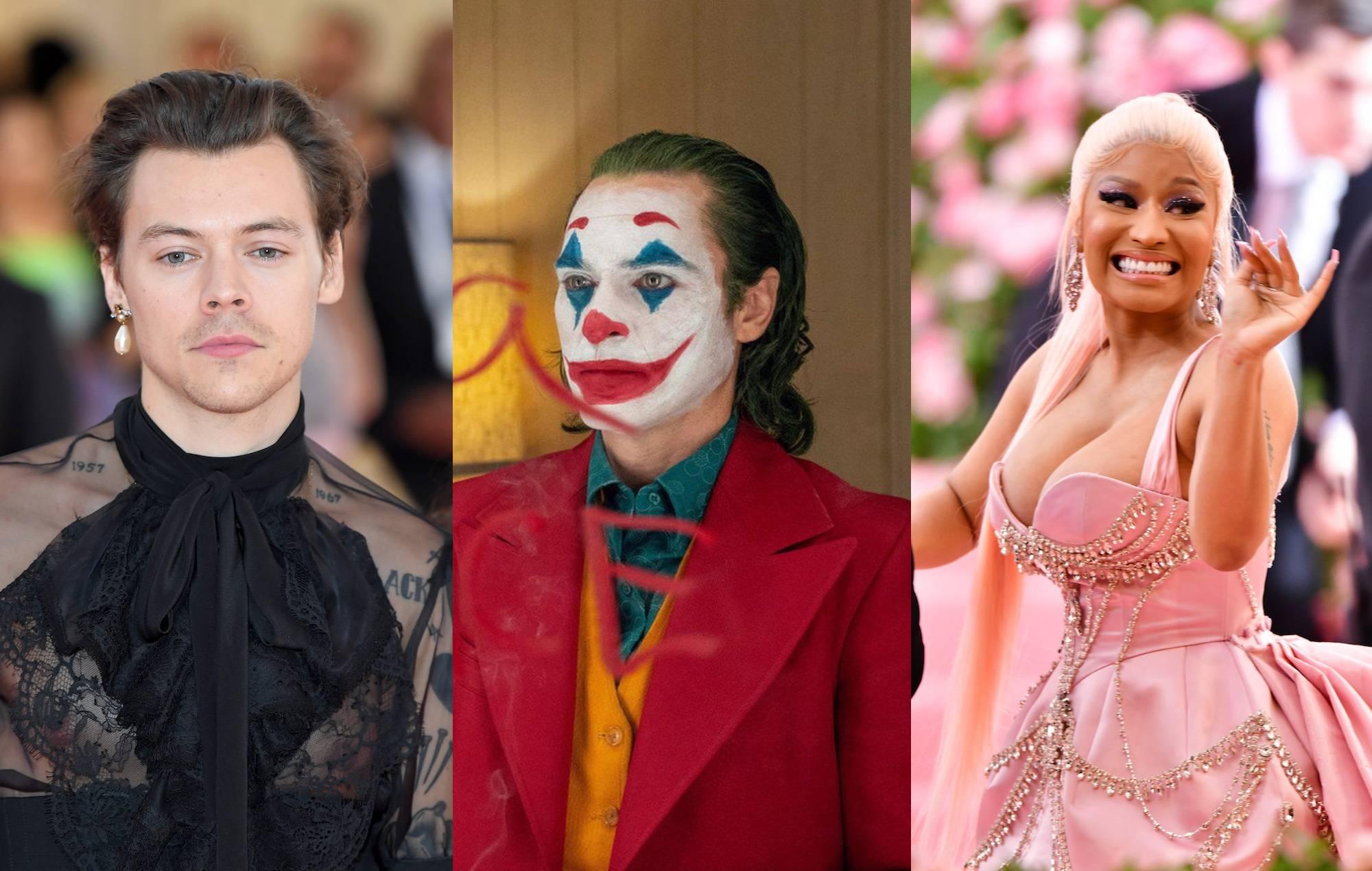 Harry Styles, Joaquin Phoenix as The Joker, Nicki Minaj