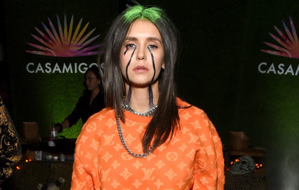 Nina Dobrev dressed up as Billie Eilish for Halloween
