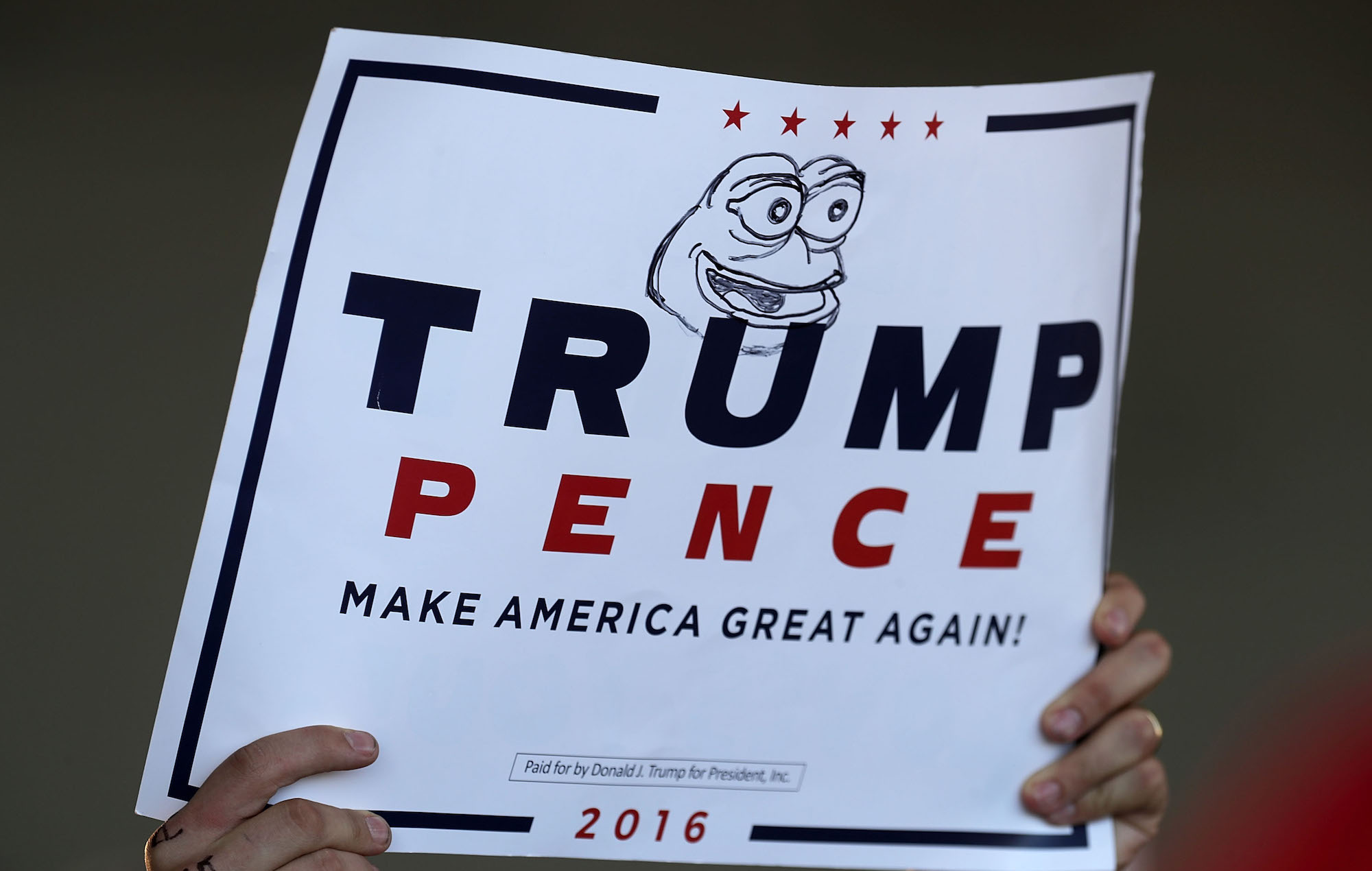 Trump sign Pepe The Frog