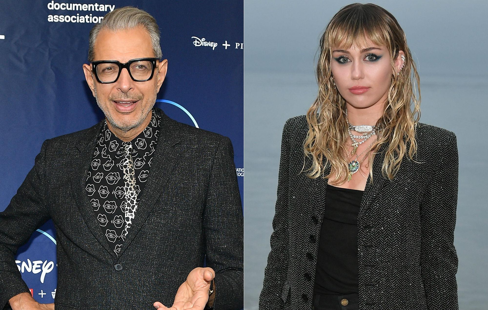 Jeff Goldblum and Miley Cyrus