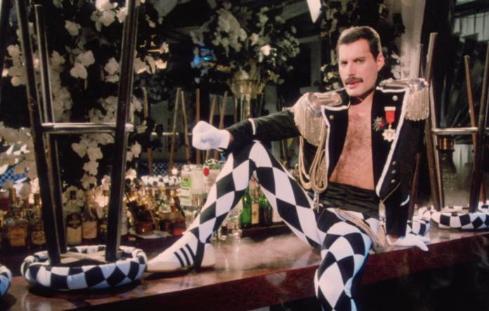 Screenshot of Freddie Mercury's 'Living On My Own' video