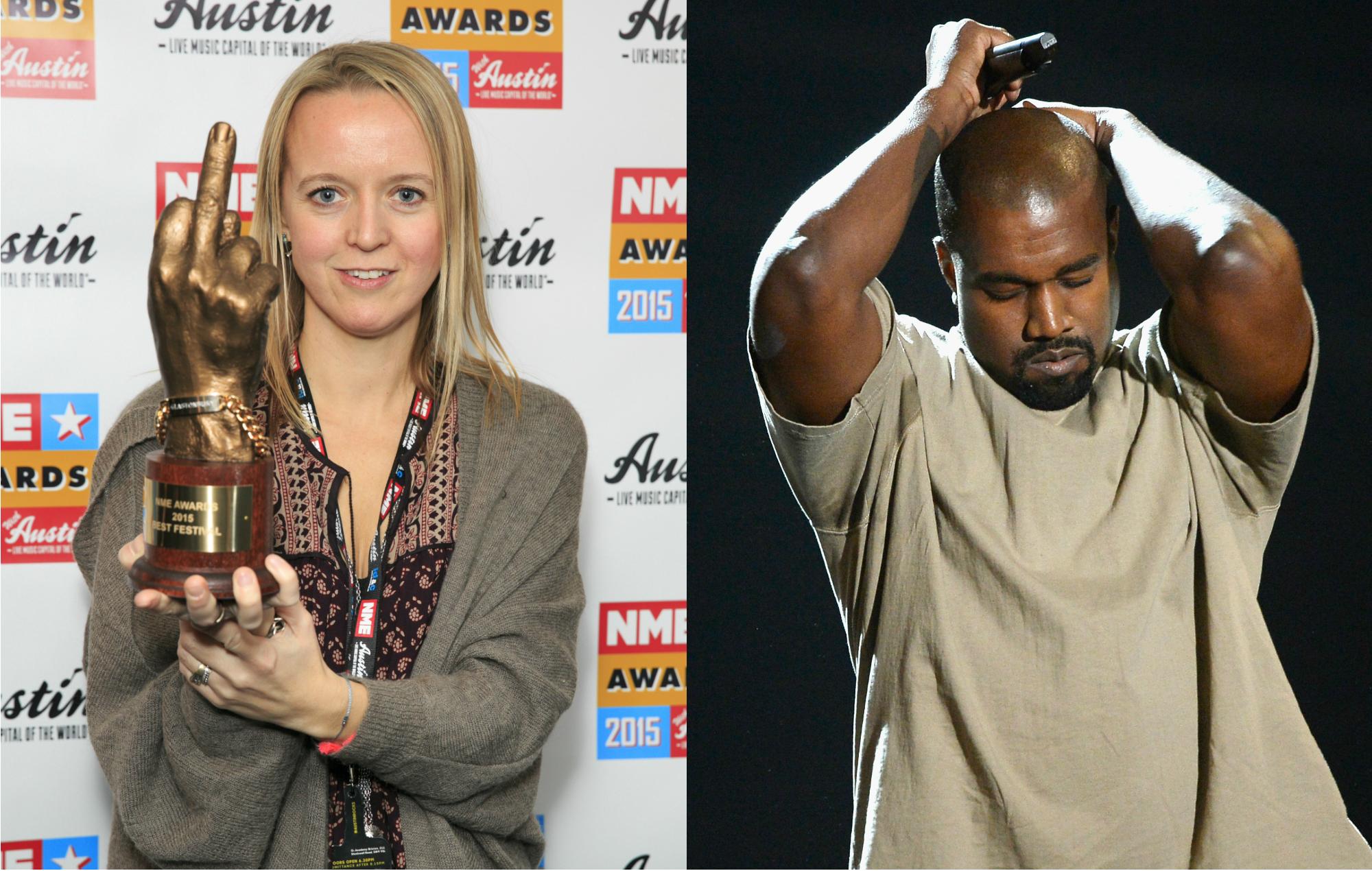 Emily Eavis and Kanye West