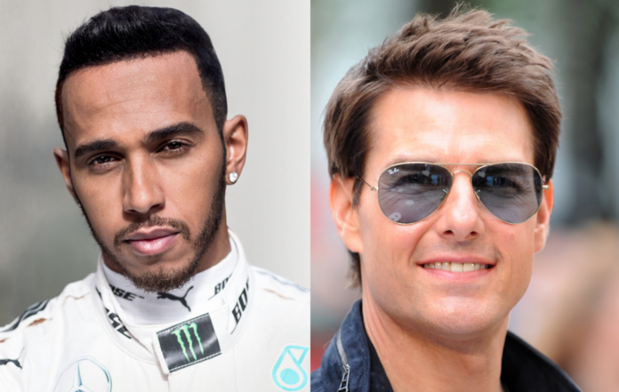 Lewis Hamilton and Tom Cruise