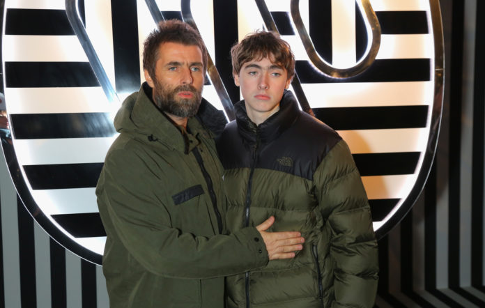 Liam Gallagher and son