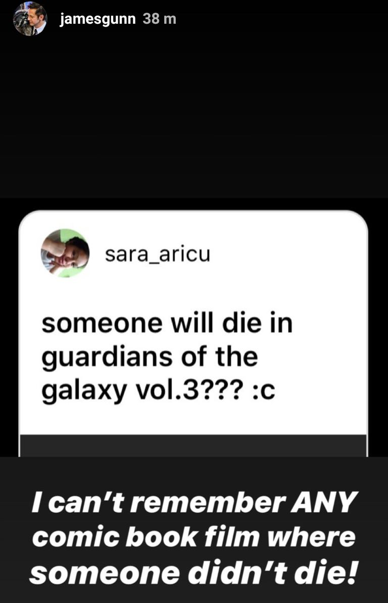 James Gunn hints at character death in 'Guardians Of The Galaxy 3'