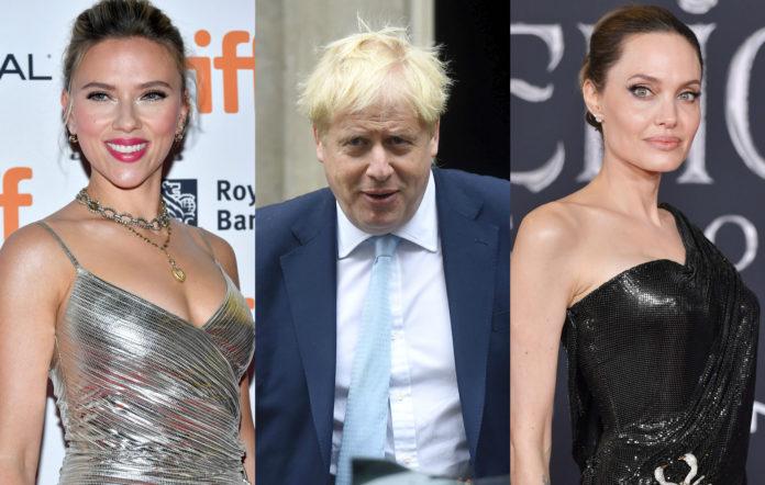 Scarlett Johansson Boris Johnson Angelina Jolie