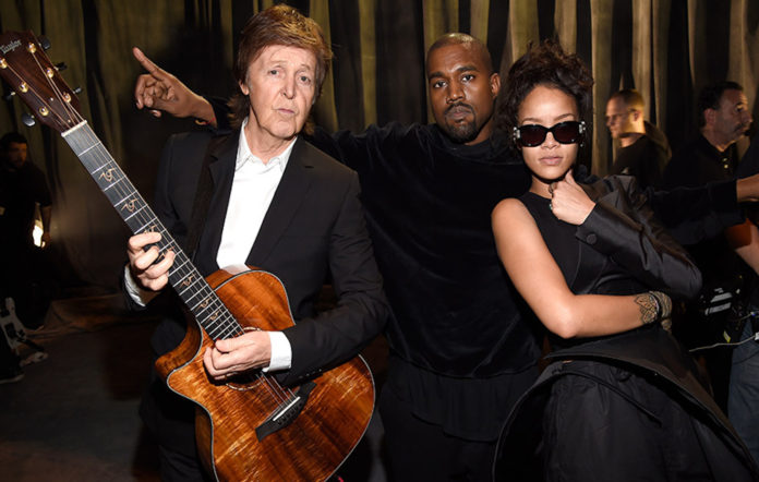 Paul McCartney Kanye West Rihanna