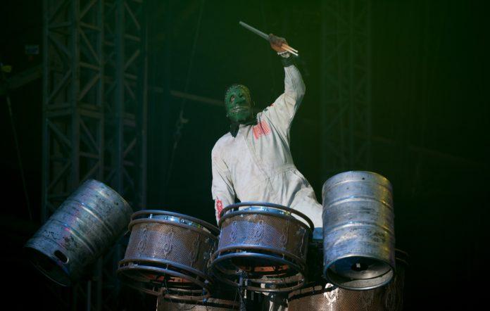 Former Slipknot member Chris Fehn at Download Festival - Day 1