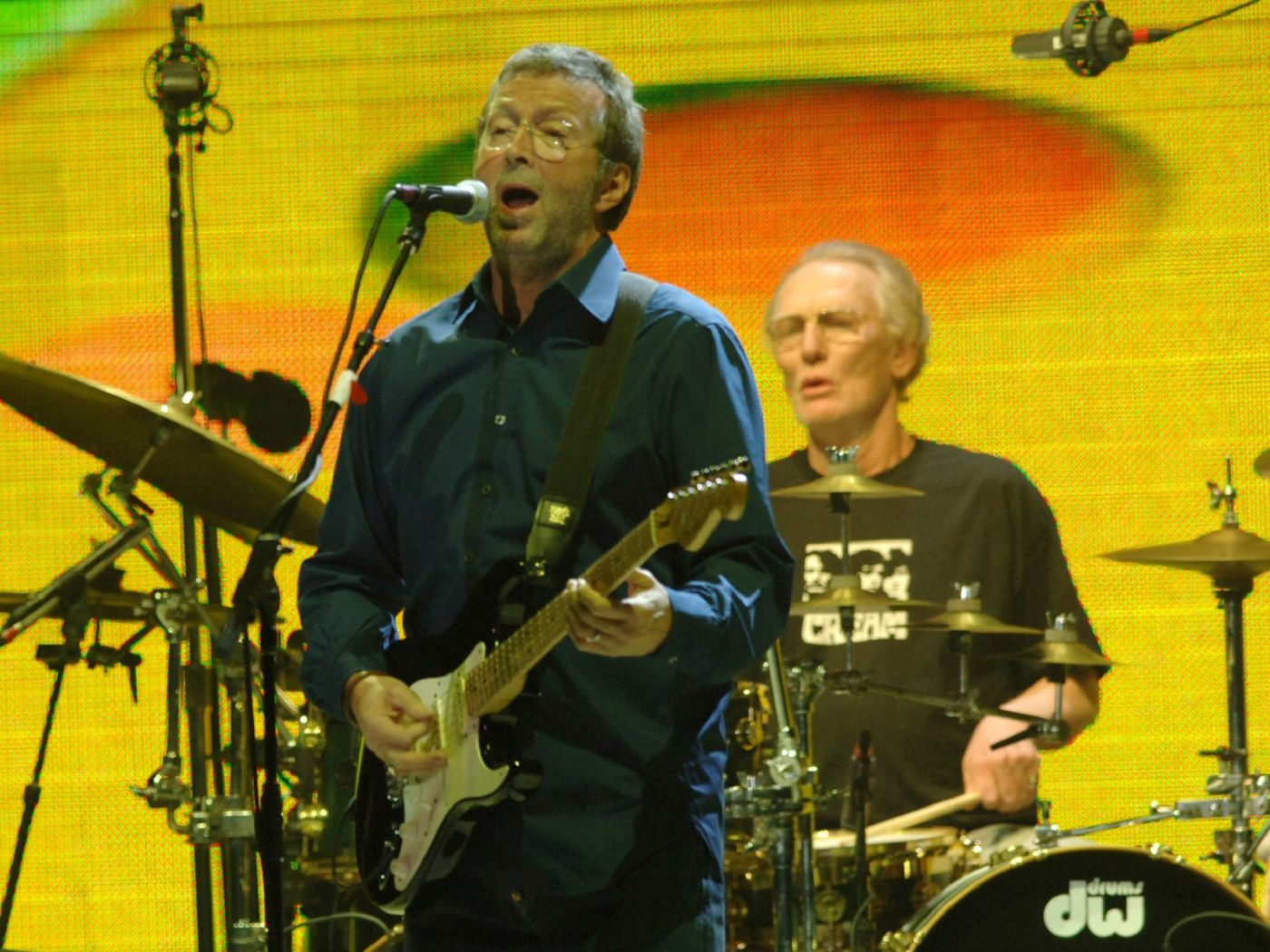 Eric Clapton and Ginger Baker performing with Cream