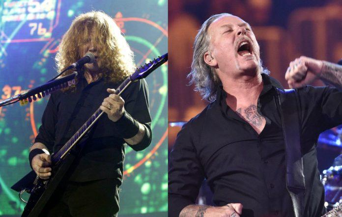 Megadeth's Dave Mustaine and Metallica frontman James Hetfield