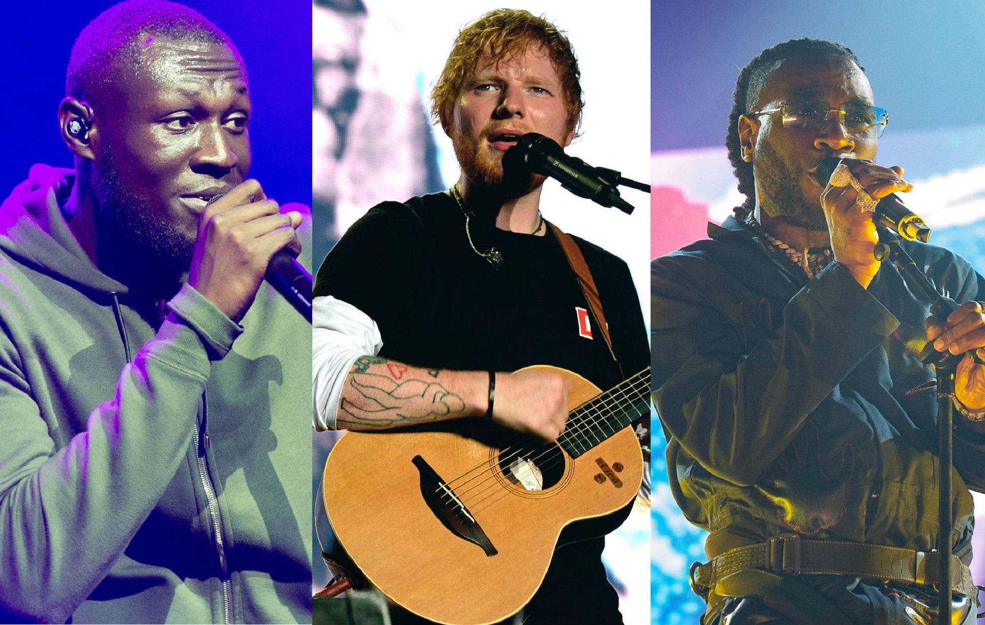 Stormzy, Ed Sheeran and Burna Boy